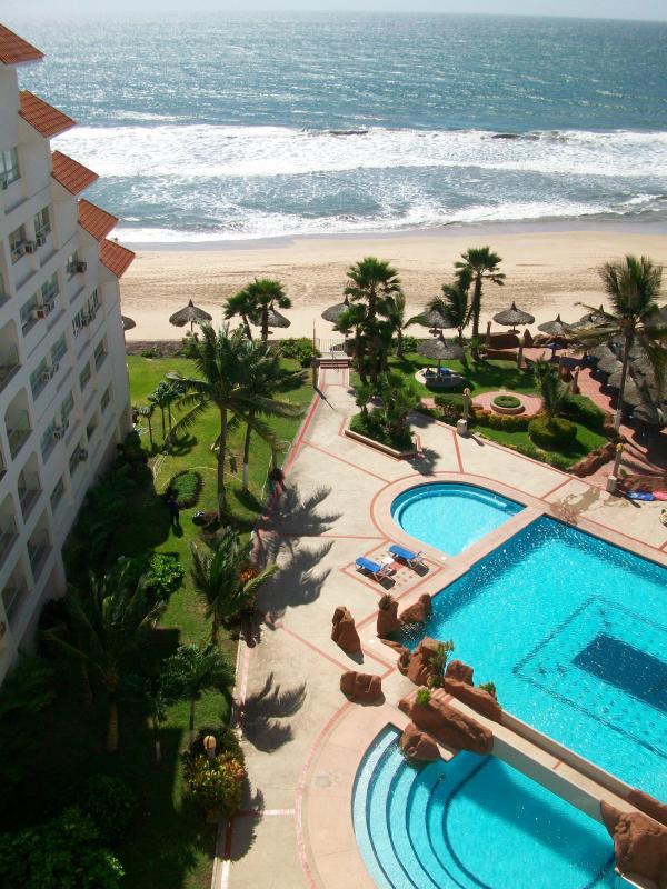 View from balcony - BEACH CONDO - Quintas del Mar - Mazatlan - rentals