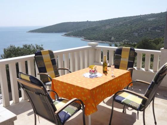Terrace view 1 - Beautiful Vacation House / Apartment by the sea - Vinisce - rentals