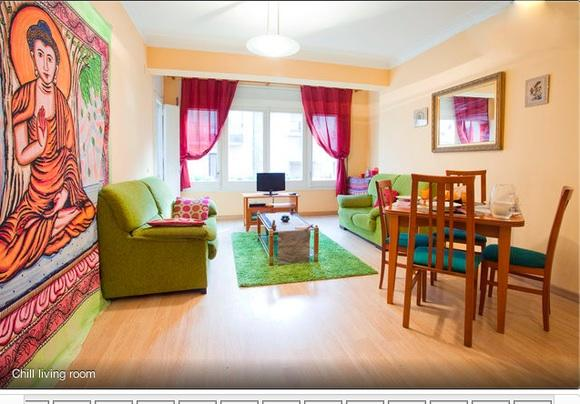 Chill living room - Corinthian 3 Bed flat with balconies! - Barcelona - rentals