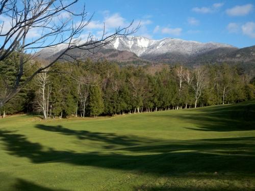 View of the Mountains from the Ausable Golf Course -- a 3 minute walk out the door of the Hemlocks - The Hemlocks in the High Peaks - Adirondack - rentals