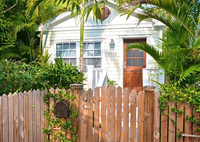 "Quiet, Upscale Enclave's Main Entry - ""PARADISE PALMS"" Tropical Key West Home w/ BBQ Grill & Pvt Patio - Key West - rentals"