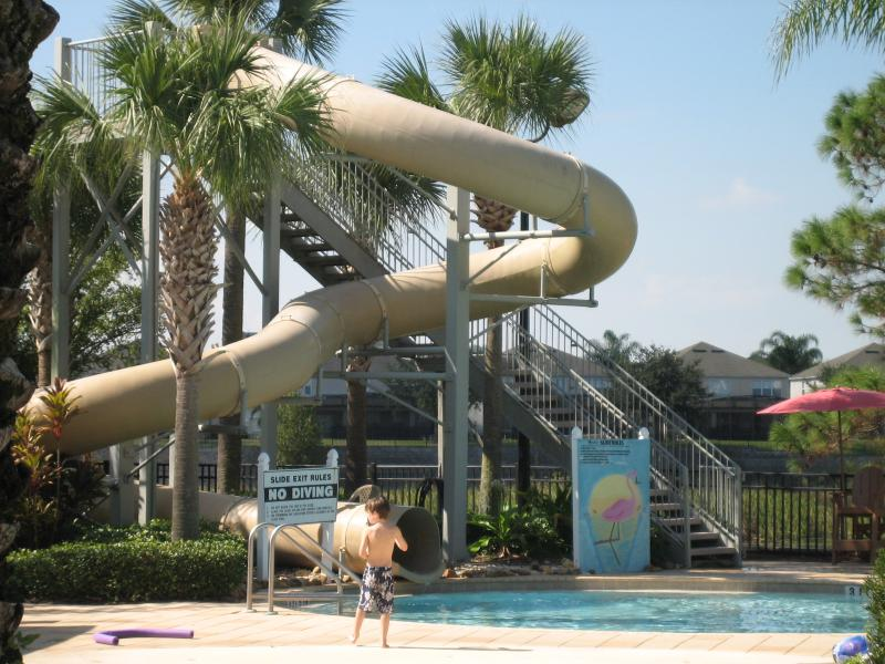 pool slide - Well Appointed 3 Bedroom Condo in Windsor Hills, 1.5 miles to Disney gates - Kissimmee - rentals
