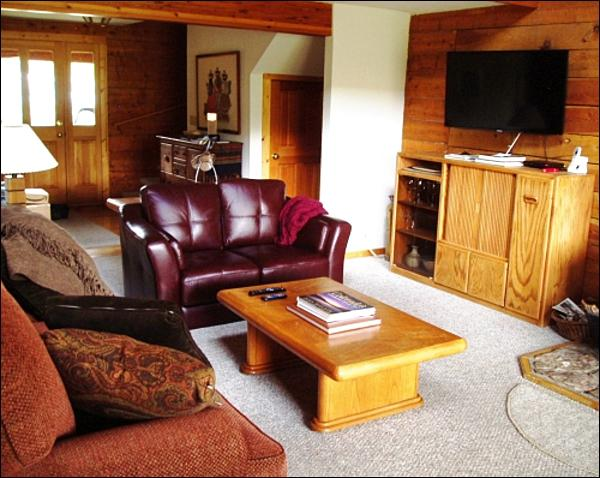 Flat-Screen TV in the Living Room - Inviting Log Home - Wonderful North-Facing Views (1393) - Crested Butte - rentals