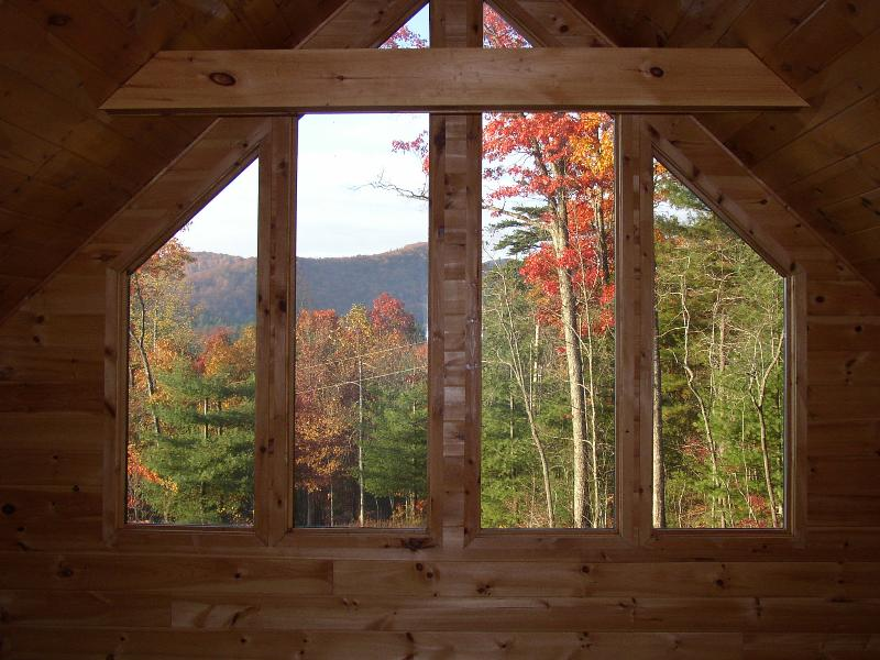 view from the second master bed - Romantic, Secluded Craftsman style cabin minutes f - Blue Ridge - rentals