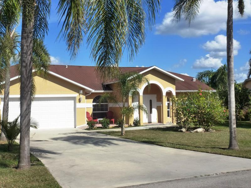 Home Front-View - SELINA HOME ; 3 1/2 Bedroom Pool Home in Bonita Springs, FL 34135 - Bonita Springs - rentals