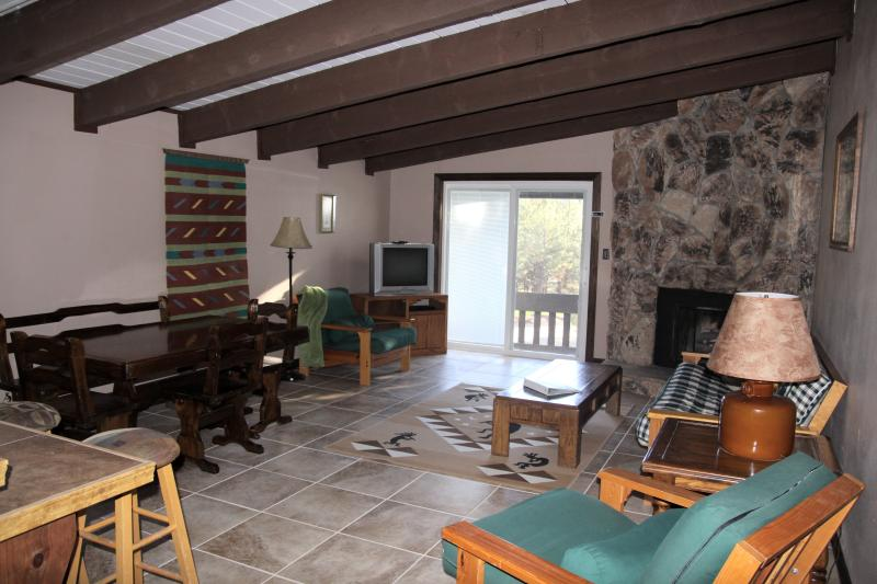 Comfy Living Area- Open and Airy with Lots of Natural Light - Large 2/2 Angel Fire Condo Near Ski/Bike Lift! - Angel Fire - rentals