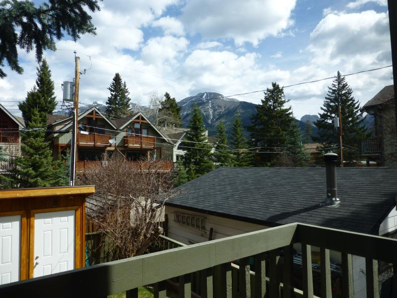 View from the Balcony! - Canmore Condo in the Heart! 2 BR+Loft.  Sleeps 6! - Canmore - rentals
