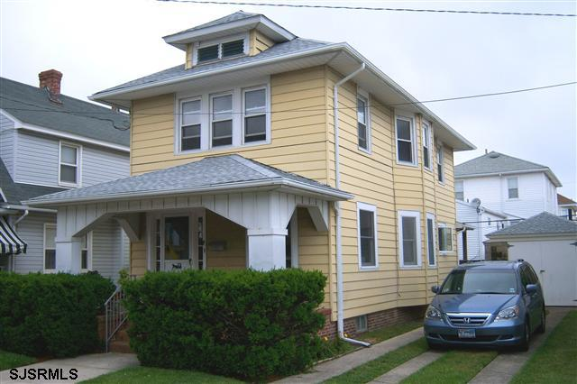 Front of House with Porch & Off-Street Parking - Ventnor, NJ Beach Home - Ventnor City - rentals