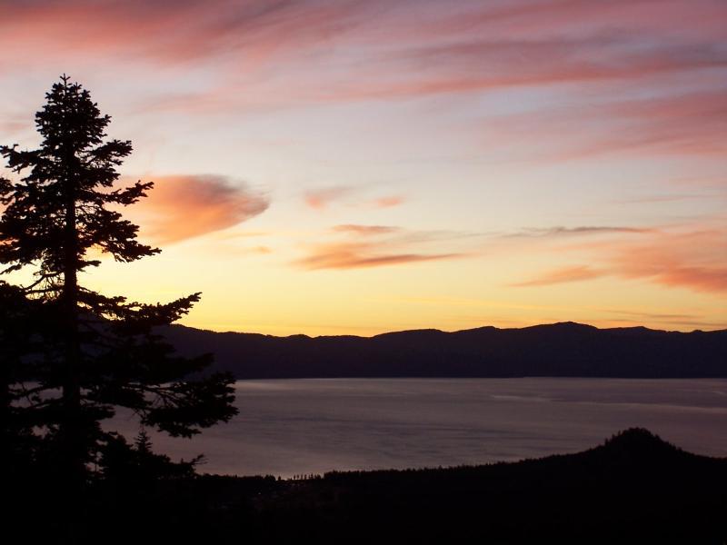 "view from living room - Panoramic Lake/Ski View ""B"" - Stateline - rentals"