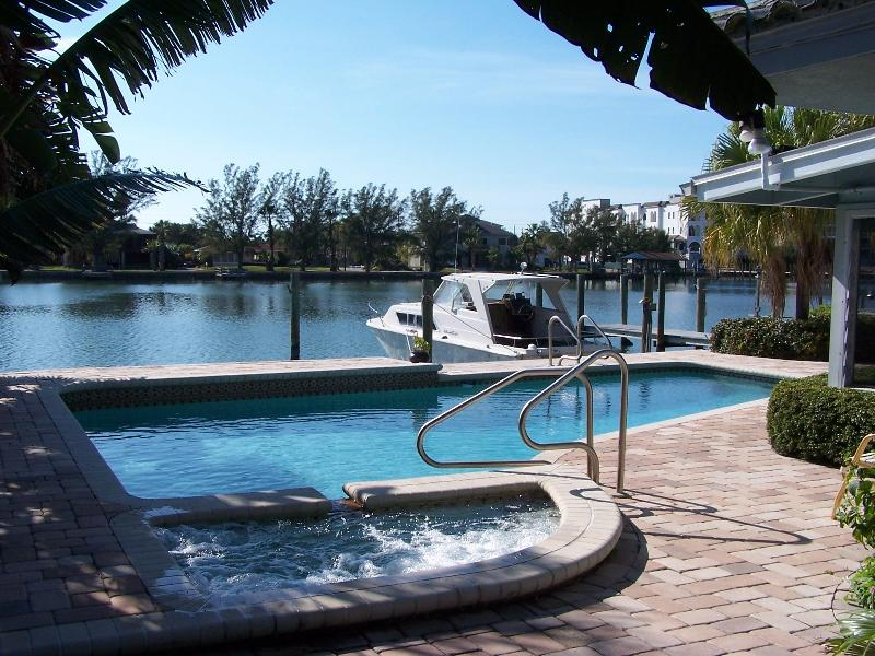 Hot Tub, Pool, Dock & Bayou - Boaters Delight-Deep Water Dock-Pool-Hot Tub-View-Belle Vista Dr. - Saint Pete Beach - rentals