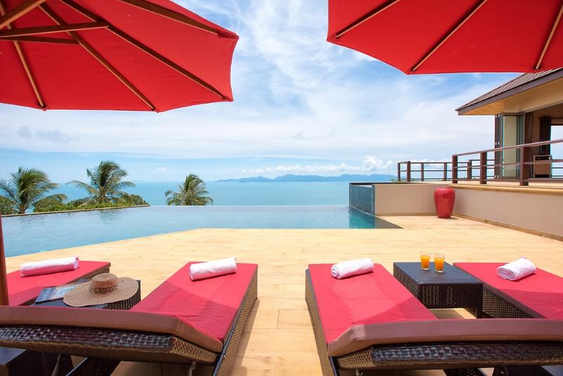 Stunning private villa infinity ocean pool views - Image 1 - Koh Samui - rentals
