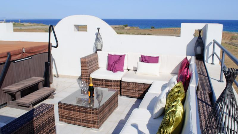 Oceanview Villa 180 - Roof terrace with jacuzzi - Image 1 - Protaras - rentals