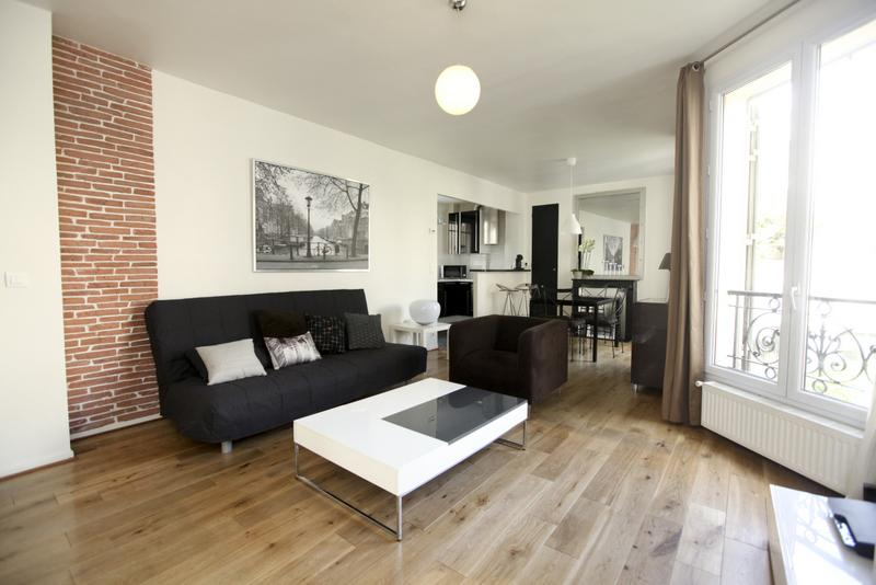 Large Lounge with Sofa bed - Trendy 2 Bedroom in the Center of Paris - Paris - rentals
