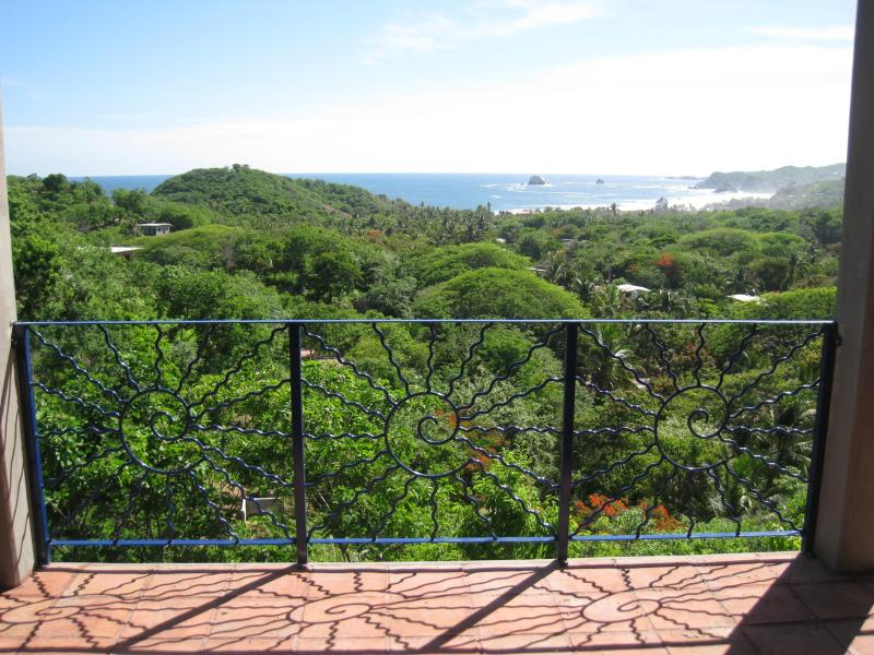 spectacular views from the upstairs balcony - Casa Orquidea Zipolite Vacation Rental Home - Zipolite - rentals