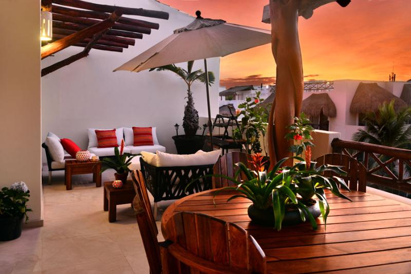 Three Bedrooms Penthouse - Ocean View terrace - Image 1 - Playa del Carmen - rentals