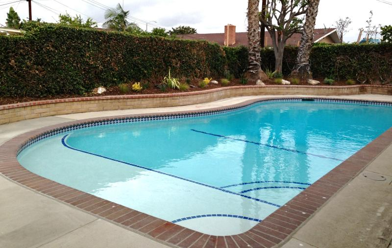Heated pool with baja shelf and child safety fence - Only 1/4 Mile To Disney, Directly Across Heated Pool Home - Anaheim - rentals