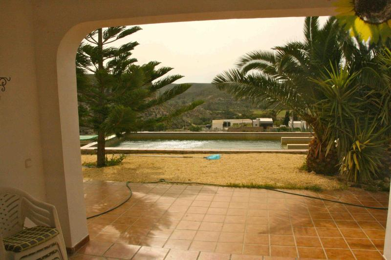 View from the terrace to the swimming pool - Country villa with its own swimming pool,  jacuzzi - Deifontes - rentals