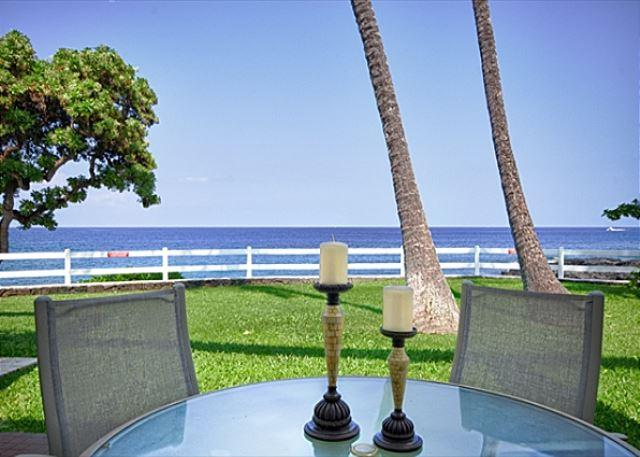 Spectacular Ocean Front Lanai - Fabulous Ocean Front Villa! Private Lanai Steps to the Lawn then Ocean!-RSC 109 - Kona Coast - rentals