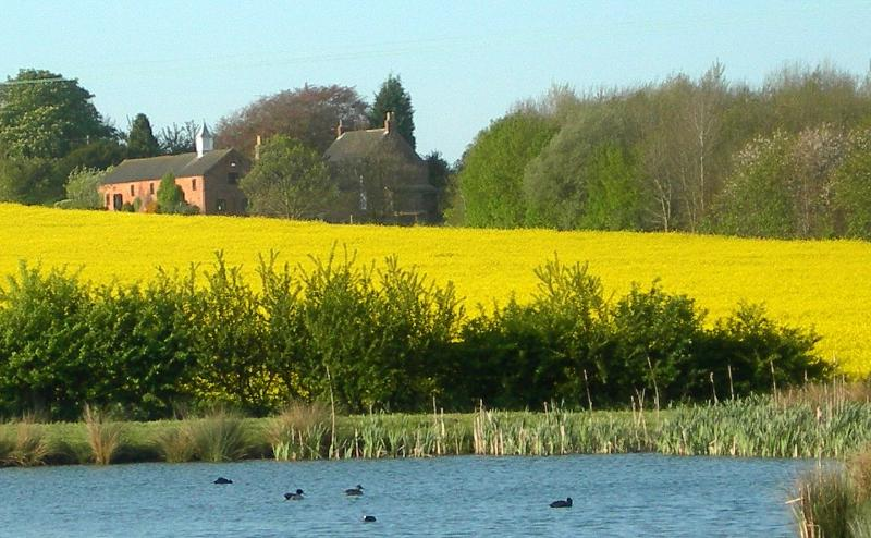Duck's eye view of Old Barn Cottages - Luxury cottage in idyllic rural setting - Horncastle - rentals