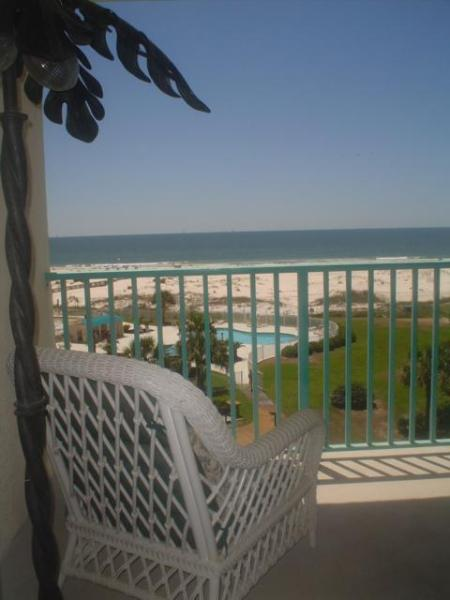 Beautiful Balcony View. Take a siesta! - Magnificent Beachfront Condo,2 Bedroom,Plantation Palms,Great View - Gulf Shores - rentals