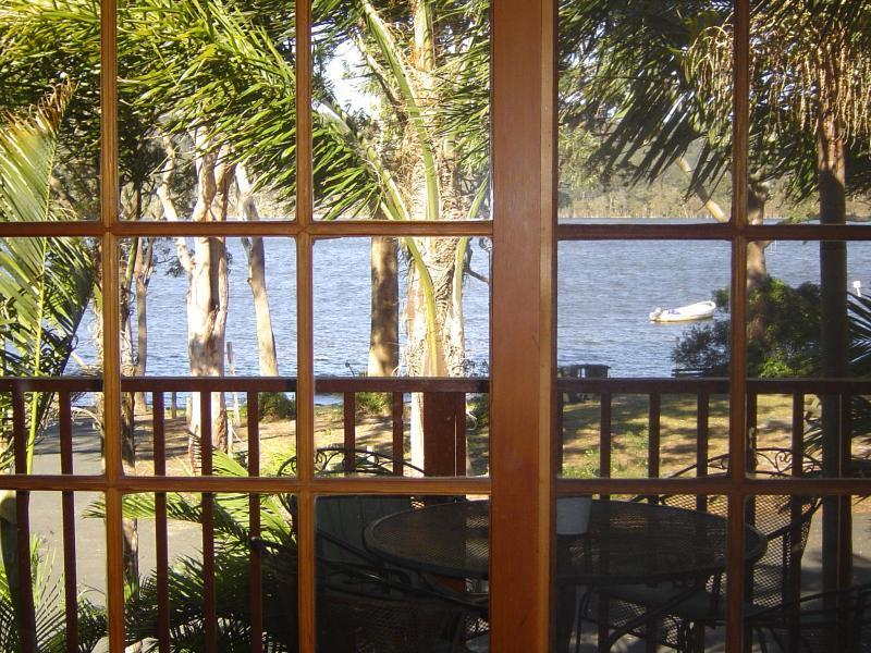 view  from balcony - Waterfront Architect Designed House - Smiths Lake - rentals