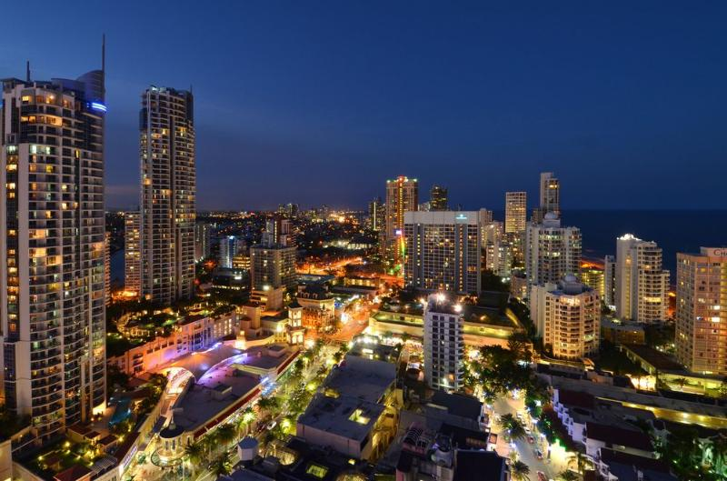 Exact view from level 24 - Level 24 H  Residences - Co-Located with Hilton - Surfers Paradise - rentals