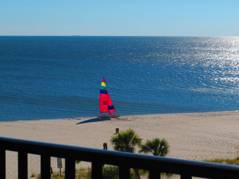 Private balcony view - Pass Christian Top Floor Beachfront Condo - Pass Christian - rentals