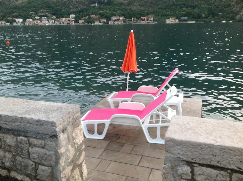 Seaside chairs, - Villa Miramare Apartment ROSA - Kotor - rentals