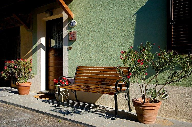 Main entrance to Green House - GREEN HOUSE- CASA VERDE  in the TUSCIA area - Collevalenza - rentals