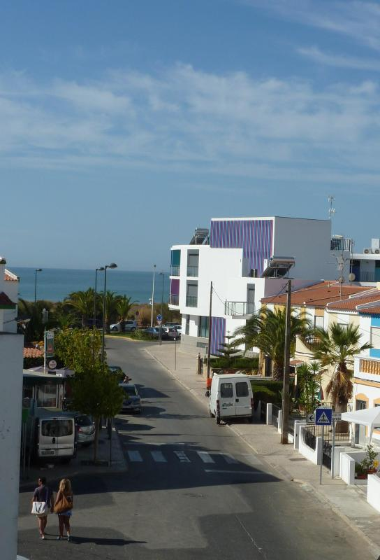 Bedroom 1 balcony view - New air conditioned apartment 100 metres to beach - Monte Gordo - rentals