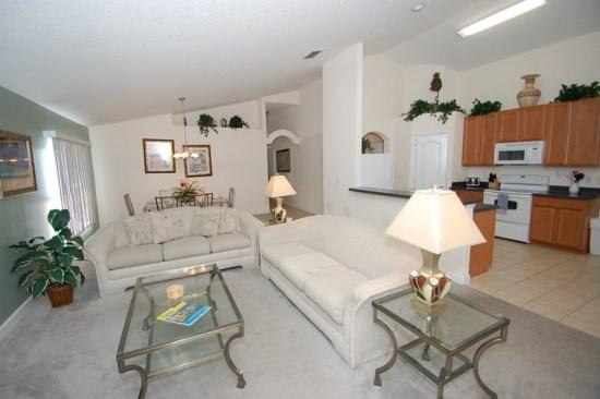 4 Bedroom 3 Bath South Facing Private Pool/Spa Home near Disney. - Image 1 - Orlando - rentals