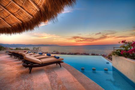 Hillside ocean view Casa Galeana with heated infinity pool & short walk to beach - Image 1 - Puerto Vallarta - rentals