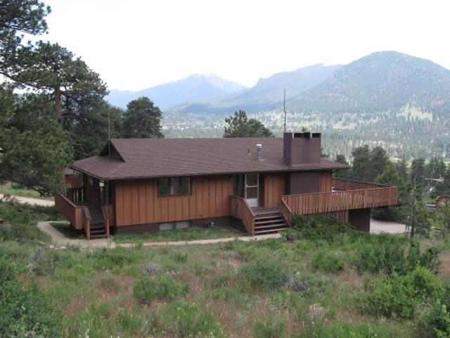 Side View of the Cabin - Breathtaking Views, Huge Deck, Private, Fireplace - Estes Park - rentals