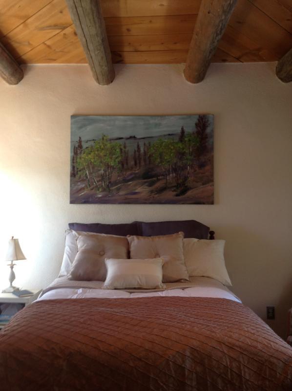 bedroom - adobe home with contemporary accents - Santa Fe - rentals