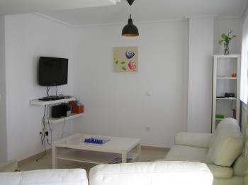 lounge leads to balcony overlooking the swimming pool - two bedroomed apartment in tranquill surrounds - Sucina - rentals