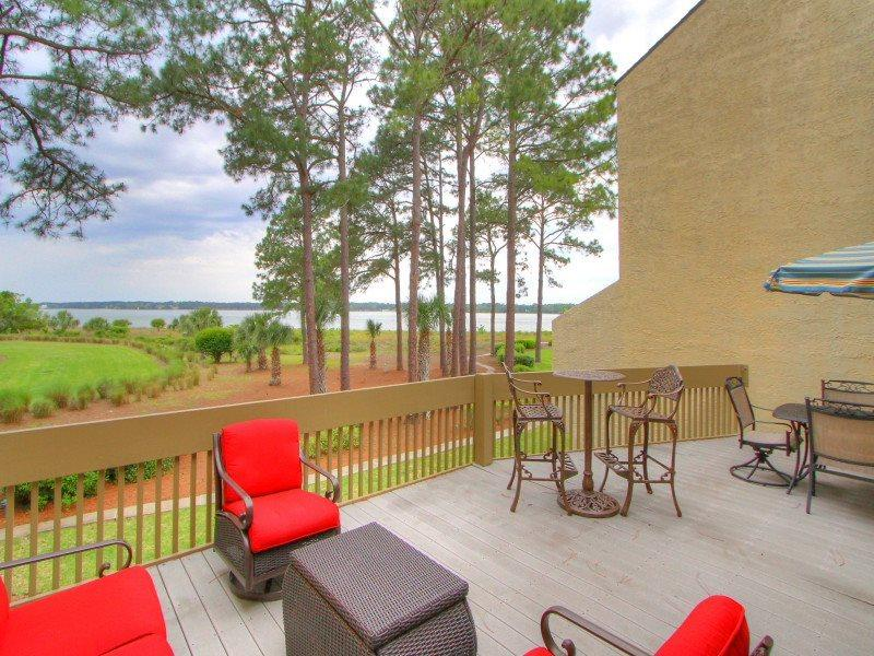 Balcony with Access from the 2nd Level - 1452 Sound Villa - Sea Pines - rentals