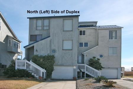 Street side view - 3914 River Road - North Topsail Beach - rentals