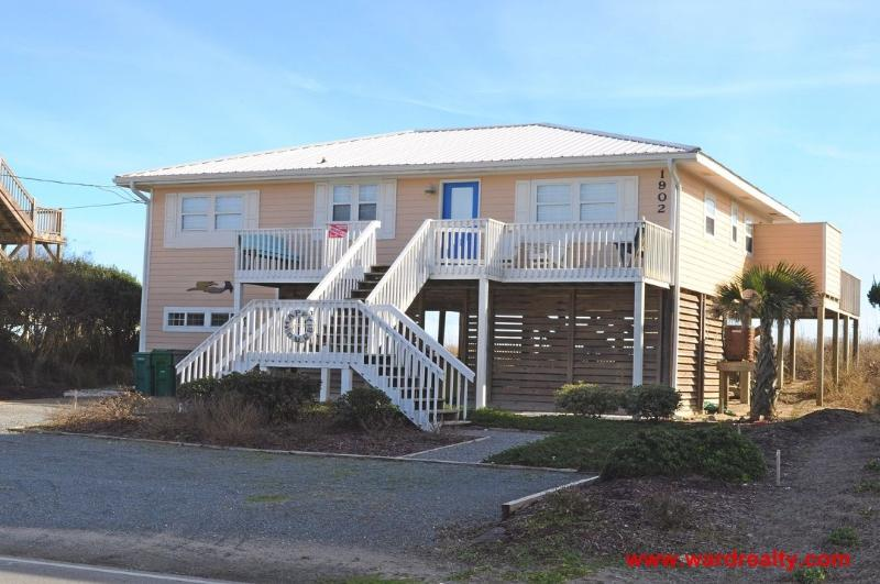 Streetside Exterior with Sun Deck - Happy Ours - Surf City - rentals