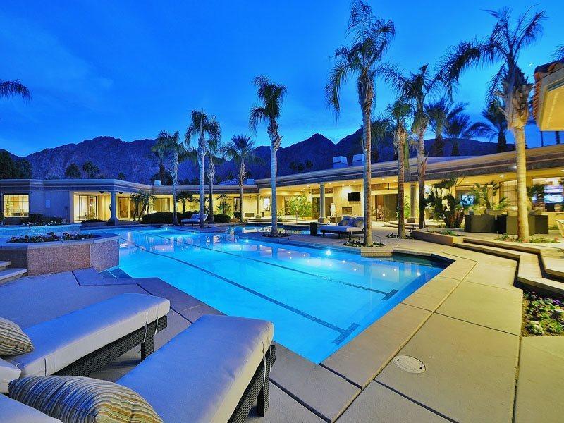 Luxurious Poolside Living at Dusk - Sterling Tennis Estate - Indian Wells - rentals