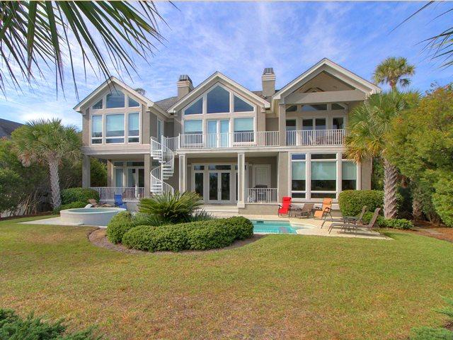 Back of house on oceanside - Sea Castle - 4 Bedrooms - Hilton Head - rentals
