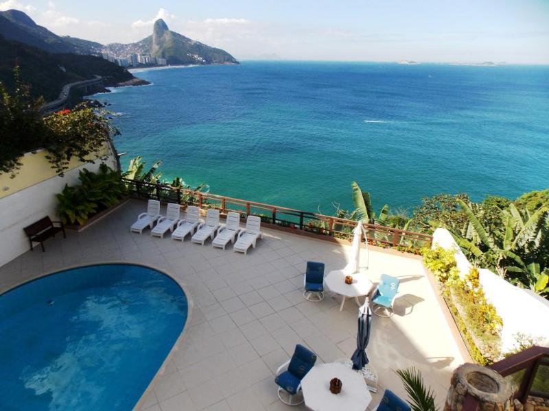 Piscina com Vista - OCEANFRONT 5 SUITES LUXURY HOUSE IN RIO ! - Rio de Janeiro - rentals