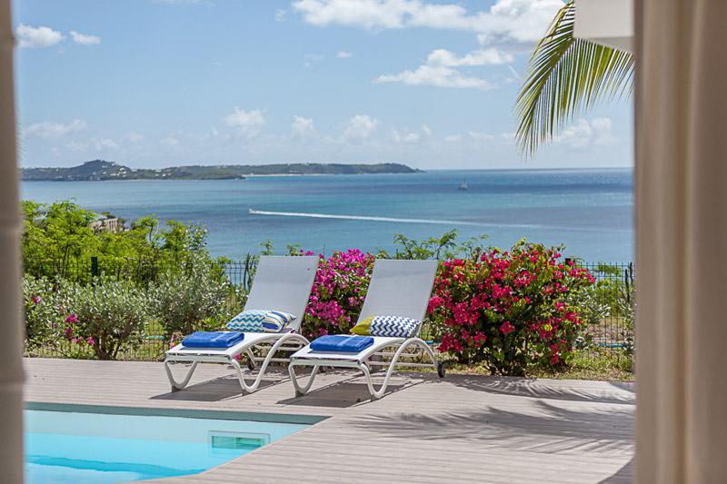 Sea Dream... 3br villa in Happy Bay, St Martin 800 480 8555 - SEA DREAM...wonderful ocean and sunset views in Happy Bay, St Martin - La Savane - rentals