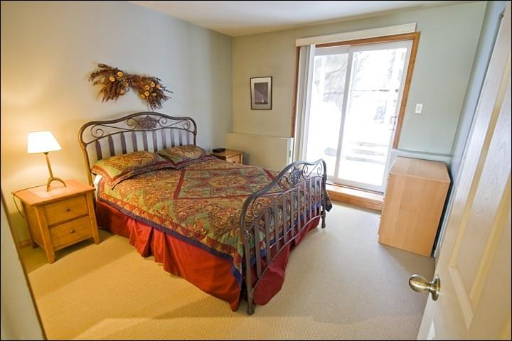 One Queen Bed is Featured in the Master En Suite - Just a Short Walk to the Free Shuttle - Private Balcony with Summer BBQ (6114) - Mont Tremblant - rentals