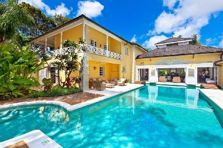 Charming two-story Jamoon in Sandy Lane Estate with pool, media room & staff - Image 1 - Sandy Lane - rentals
