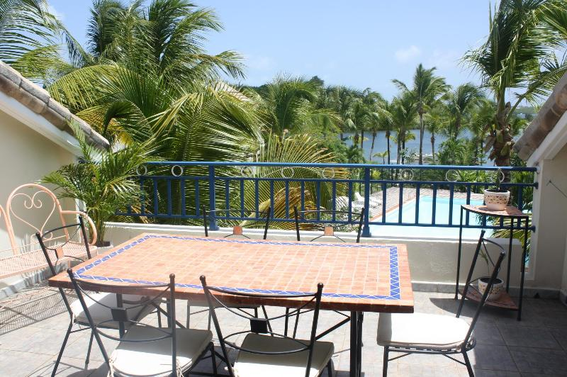The terrace - Beach Front Condo (2 to 6 persons) Nettle Bay - Saint Martin - rentals