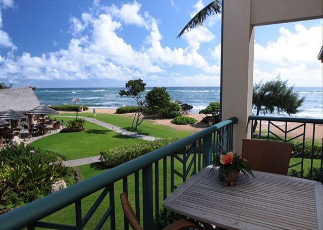 View from Lanai - H202 Prime BEACH! Wow VIEWS! Fast WIFI! - Kapaa - rentals