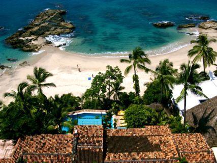 Casa Septiembre overhead view of villa and beach - Casa Septiembre - best beach house in Vallarta - Puerto Vallarta - rentals