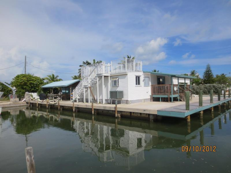 Conch House facing from Florida Bay - Conch Key: Private Single Family Fishing Compound - Conch Key - rentals