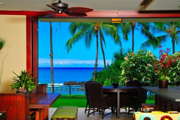 Retractable doors opening to the ocean - 2 Bed Beachfront, just steps to the sand, Oahu HI - Kapolei - rentals