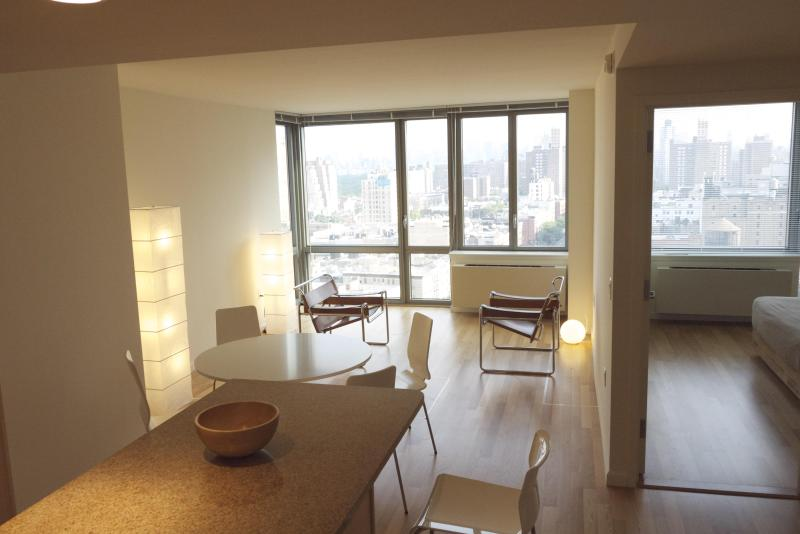 Living/Dining and partial Bedroom view - Upper West Side Morningside Drive Manhattan Views - New York City - rentals